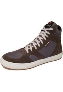 Sapatênis Galway Casual Em Couro Sneakers Cinza