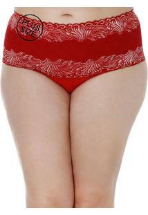 Calcinha Plus Size Feminina Vermelho