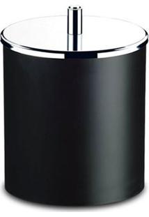 Lixeira Decorline Preta Com Tampa Inox 5,4L 3400/252 - Brinox - Brinox