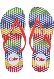 Sandália Feminina Coca-Cola Color Dots