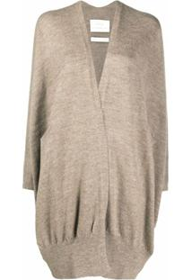 Lauren Manoogian Cardigan Oversized Com Gola V - Neutro