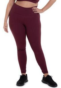 Calça Legging Plus Size Texture Cajubrasil Feminina - Feminino-Bordô