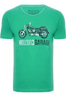Camiseta Masculina Moto Vintage - Verde