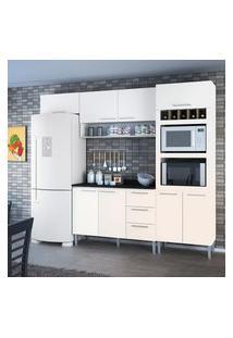 Cozinha Compacta Genialflex Yasmin Branco Brilho Com Tampo