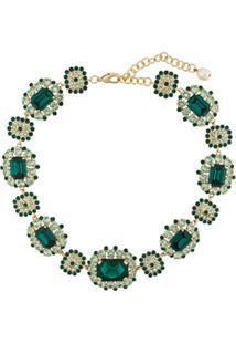 Dolce & Gabbana Colar Com Aplicação De Cristais - Verde
