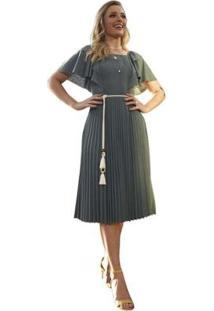 Vestido Via Parisi Fascinius Hilary Feminino - Feminino-Verde