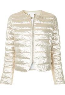Fabiana Filippi Zipped Puffer Jacket - Metálico