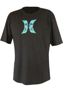 Camiseta Hurley Silk Oversize Skull - Masculino