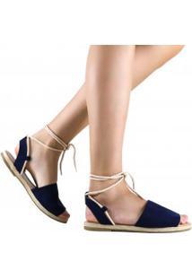 Sandália Zariff Shoes Rasteira Amarração Corda