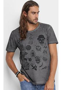 Camiseta Local Old Tattoo Estonada Masculina - Masculino