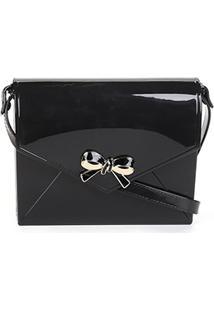 Bolsa Petite Jolie Mini Bag Laço Feminina - Feminino-Preto