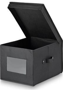 Caixa Organizadora Preto 30X40X25Cm - 30451