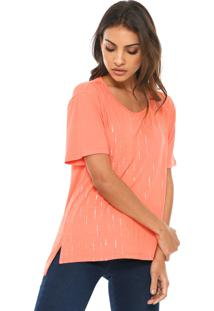 Camiseta Ellus Rain Foil Laranja