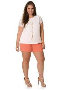 Blusa Plus Size Rovitex Premium - Feminino-Branco