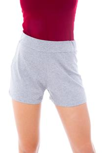 Shorts Moda Vicio De Malha Cinza