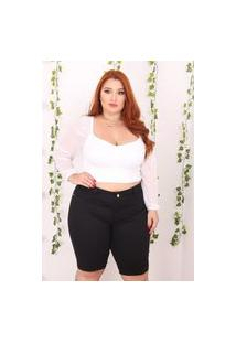 Bermuda Jeans Plus Size Alleppo Jeans Liliane