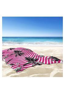 Toalha De Praia / Banho Tropical Flamingos Pink Único