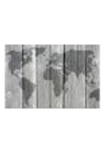 Painel Adesivo De Parede - Mapa Mundi - 723Pnm