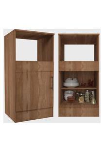 Cozinha Compacta Completa Marajó C/ 6 Portas 2 Gavetas Montana Nova Mobile Marrom