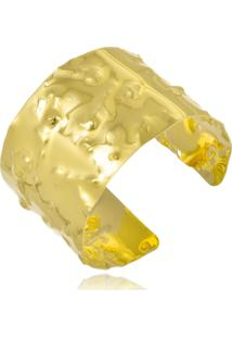 Bracelete Le Diamond Chapa Amassada Folheada