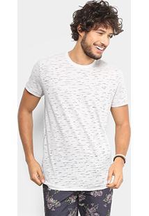 Camiseta Triton Estampada Destroyed Masculina - Masculino-Off White