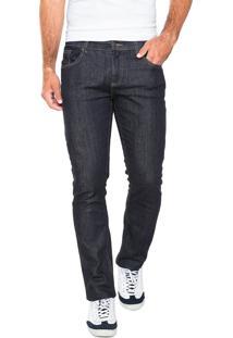 Calça Jeans Lacoste Reta Fit Azul-Marinho