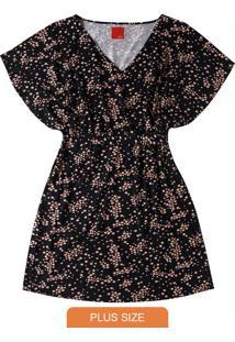 Vestido Preto Amarração Bolinhas