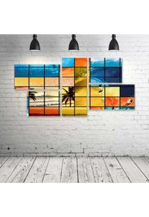 Quadro Decorativo - Surf-Mosaico - Composto De 5 Quadros - Multicolorido - Dafiti