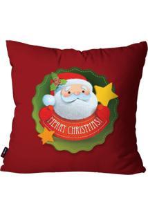 Capa De Almofada Pump Up Decorativa Avulsa Natalina Merry Christmas 45X45Cm