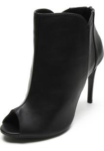 Open Boot Dafiti Shoes Recortes Preta