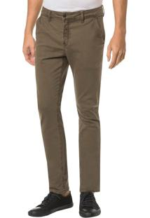 Calça Color Chino Slim - Oliva - 40