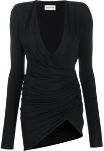 Alexandre Vauthier Asymmetric Mini Dress - Preto