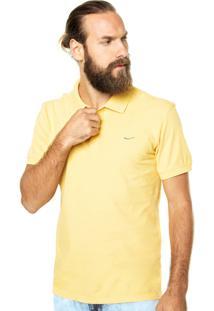 Camisa Polo Coca-Cola Jeans Logo Amarela