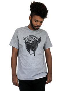 Camiseta Bleed American Overdrive Cinza Mescla