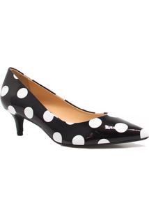 Sapato Zariff Shoes Scarpin Salto Baixo - Feminino-Preto
