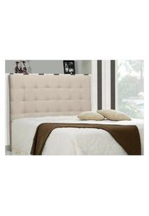 Cabeceira Casal King Sonhare 195 Cm Suede Liso Bege - D'Monegatto