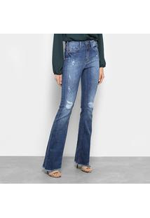 b98e4269a ... Calça Jeans Flare Forum Estonada Cintura Alta Feminina - Feminino