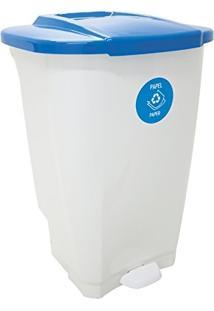 Lixeira Em Plastico T-Force Branco E Azul 100 Litros Tramontina 92814/701