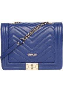 Bolsa De Couro Griffazzi Bic Feminina - Feminino-Azul Royal