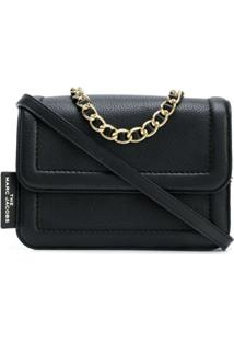 Marc Jacobs Bolsa Tiracolo The Mini Cushion - Preto