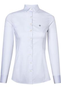 Camisa Ml Feminina Tricoline Ft Maq (Listrado, 44)