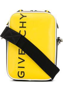 Givenchy Bolsa Carteiro Com Logo - Amarelo