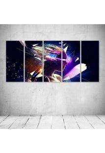 Quadro Decorativo - Women Psychedelic Digital Art - Composto De 5 Quadros