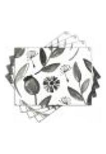 Jogo Americano - Flores Com 4 Peças - 1012Jo