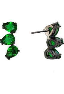 Brinco Ear Cuff Ania Store Sintra Verde - Kanui