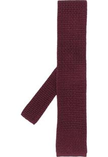 Tom Ford Gravata De Tricô - Vermelho