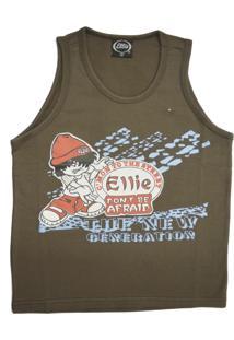 Camiseta Ellie Estampada Marrom