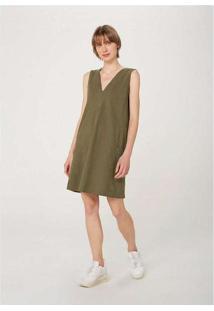Vestido Curto Em Malha Texturizada E Bolso Verde