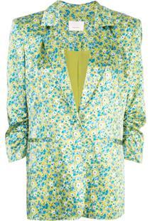 Cinq A Sept Blazer Wildflower Khloe - Verde