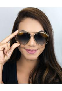 Óculos De Sol Feminino Chloé Carlina Ce134S 793 61 Dourado